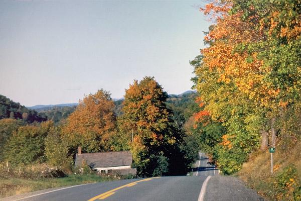 scenic road in NH